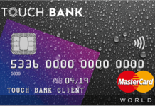 Touch BANK — заявка на кредитную карту
