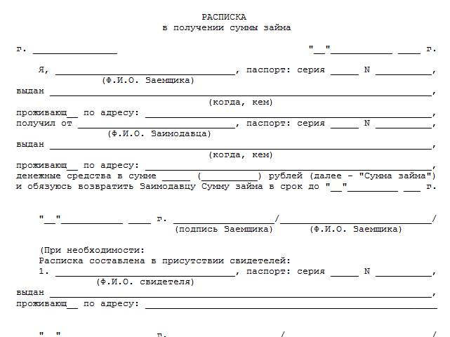 Образец акт передачи денежных средств образец.